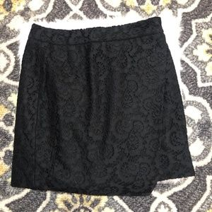 NWT Madewell Black Lace Asymetrical Skirt sz 0